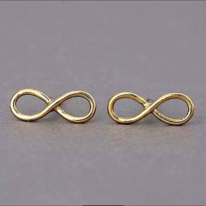 ⚜️[𝟯/$𝟭𝟴]⚜️Infinity Gold Simple Earrings NEW